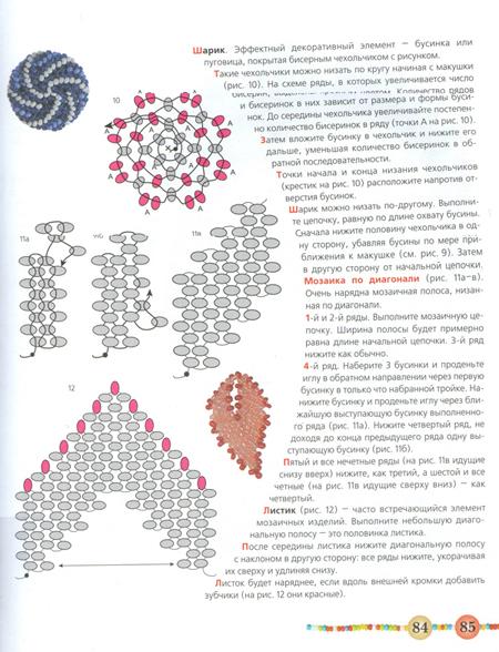 Плетение мозаикой из бисера