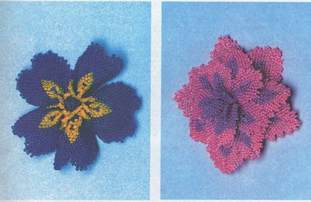 Как сплести цветы из бисера