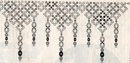 Схема плетения левой части середины