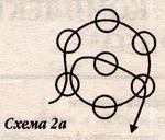 Схема плетения цветка кулона
