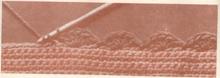Вязание  каймы  крючком
