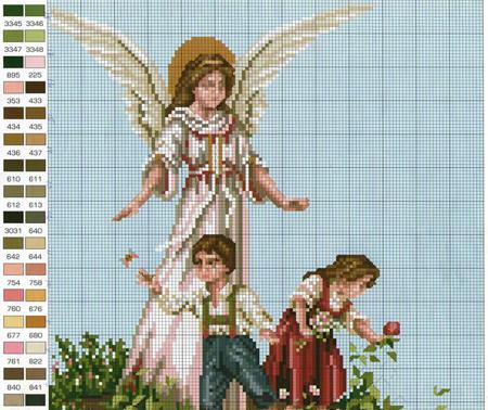 Храм , Ангел и дети , Иконы