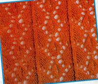 Ажурный пуловер с цветочным мотивом
