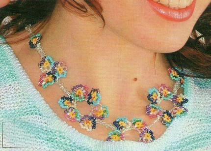 "Ожерелье  ""Цветы"""