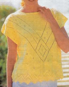 Пуловер и Топ ажурные с кокеткой