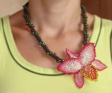 Орхидея-Цветок, Колье, Брошь и Заколка