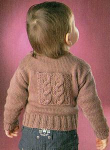 Пуловер коричневый с карманами