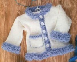 imКофточка белая с голубой отделкойg192