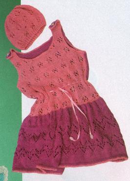 Комплект : платье и шапочка