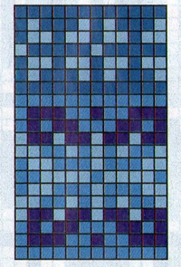 Шапка  синяя с орнаментом