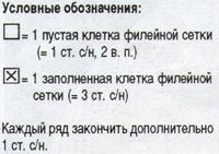 Салфетки филейные № 6 и № 7 крючком