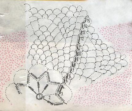 Салфетки  № 14  и  15 крючком