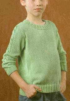 Пуловер светло-зелёный