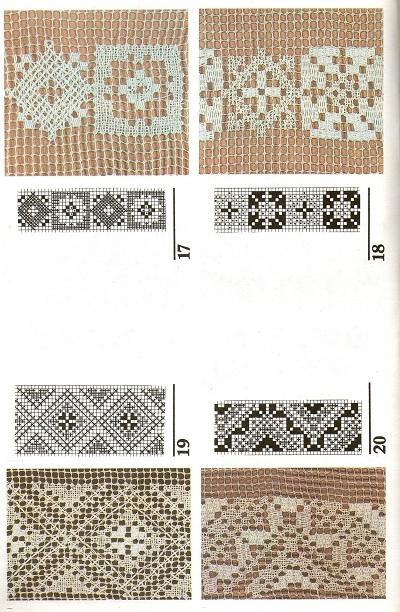 Вышивание узоров с 1 по 20