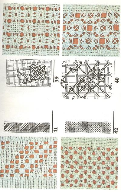 Вышивание узоров с 21 по 54